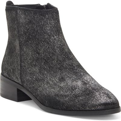 Lucky Brand Lenree Almond Toe Genuine Calf Hair Bootie- Metallic