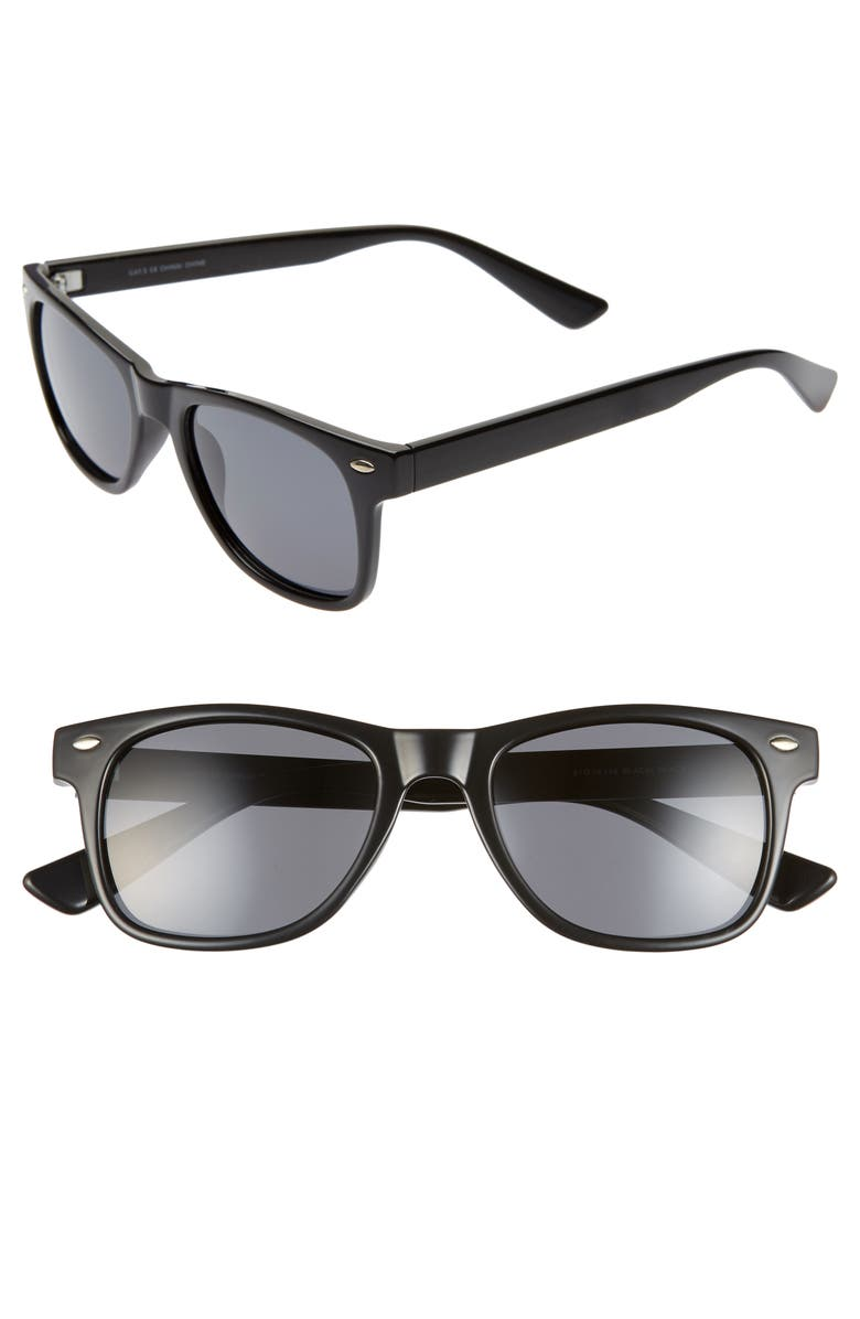 1901 Rutherford 51mm Polarized Round Sunglasses, Main, color, 001
