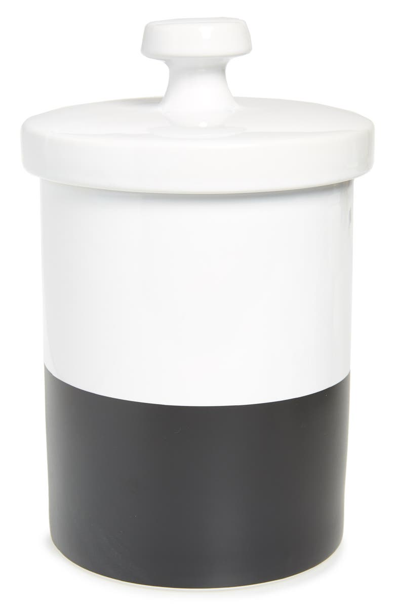 WAGGO Dipper Ceramic Dog Treat Jar with Lid, Main, color, CHALKBOARD