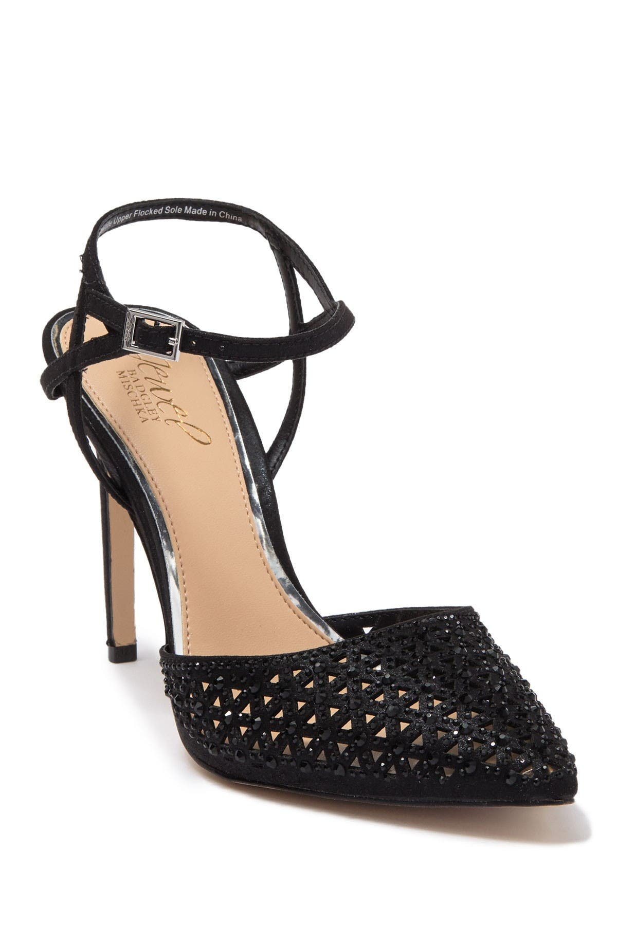 Image of Jewel Badgley Mischka Fatima Ankle Strap Pump
