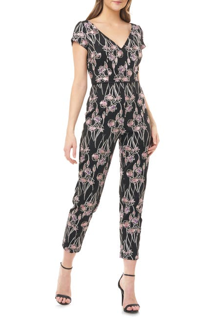Image of JS Collections Floral Crepe Jumpsuit