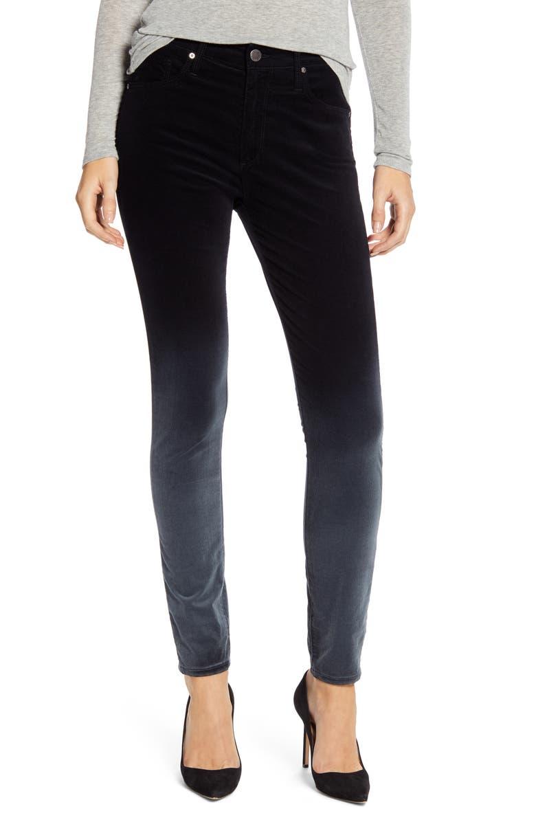 AG The Farrah High Waist Velvet Ankle Skinny Jeans, Main, color, 016