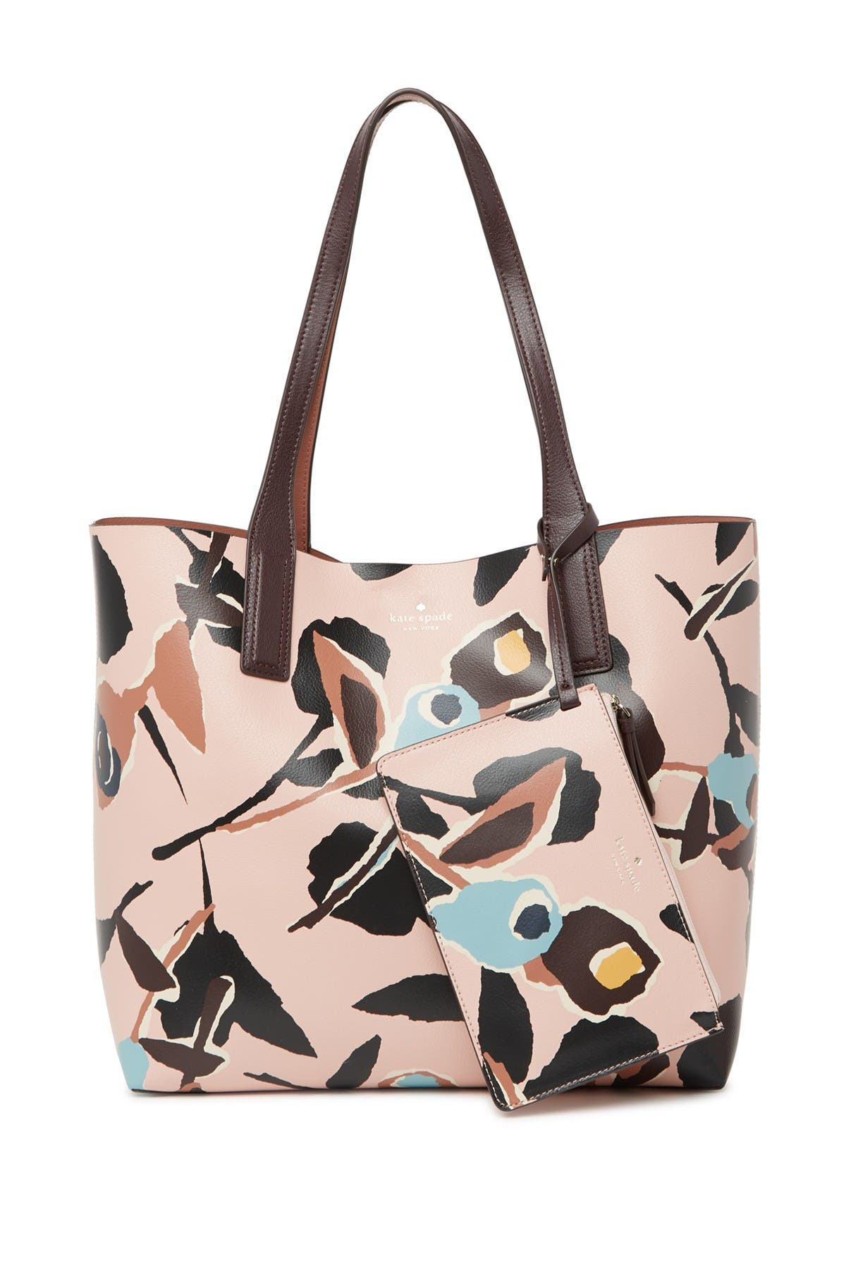 Image of kate spade new york abstract print reversible leather tote