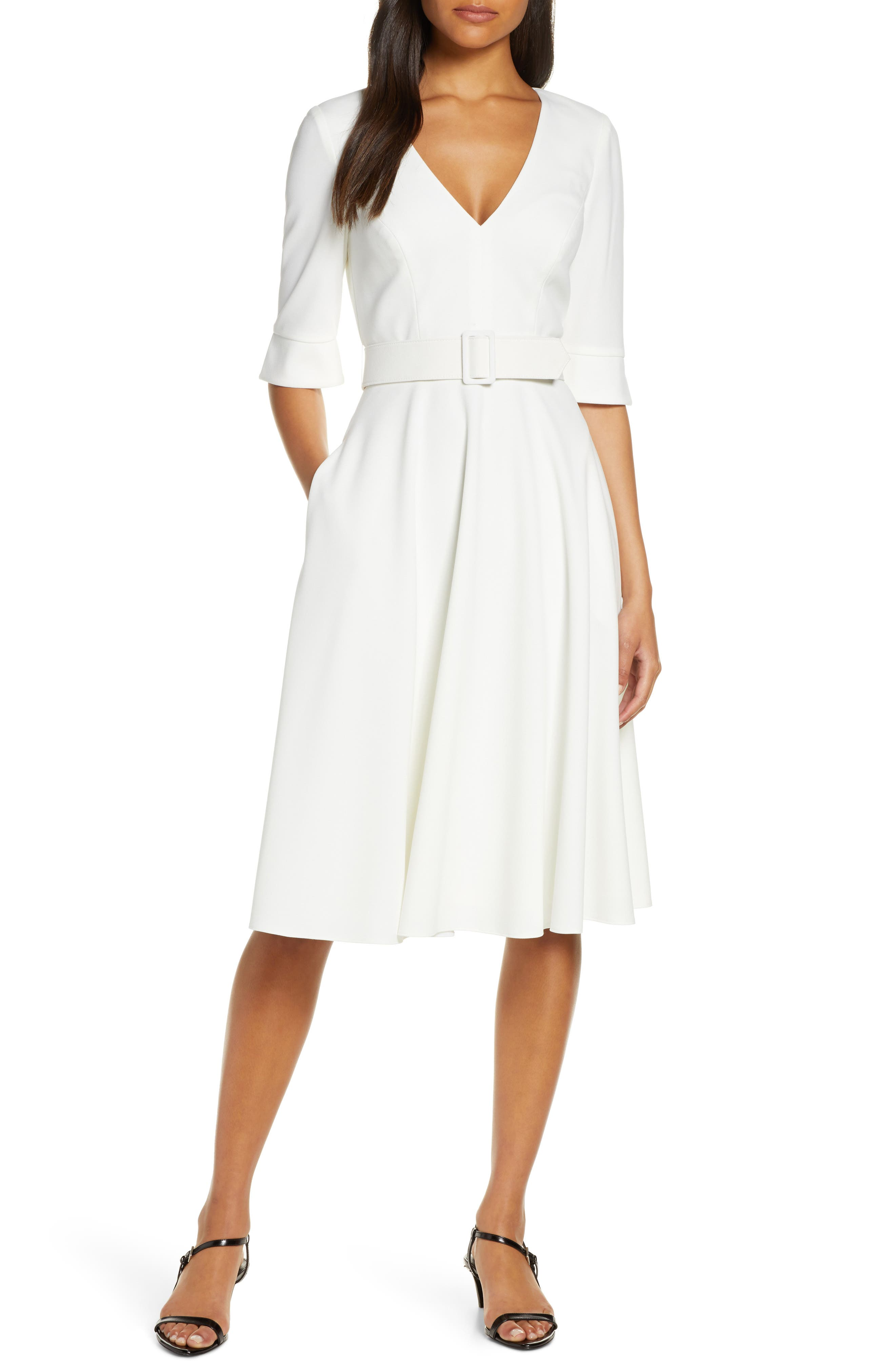 Harper Rose Belted Fit & Flare Dress (Regular & Petite)