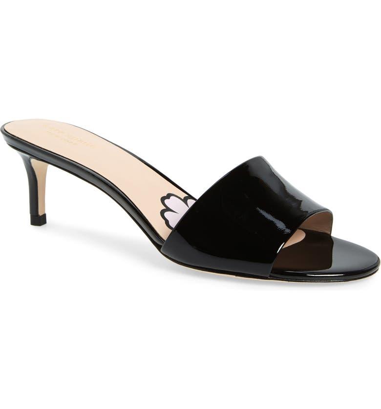 KATE SPADE NEW YORK savvi slide sandal, Main, color, BLACK