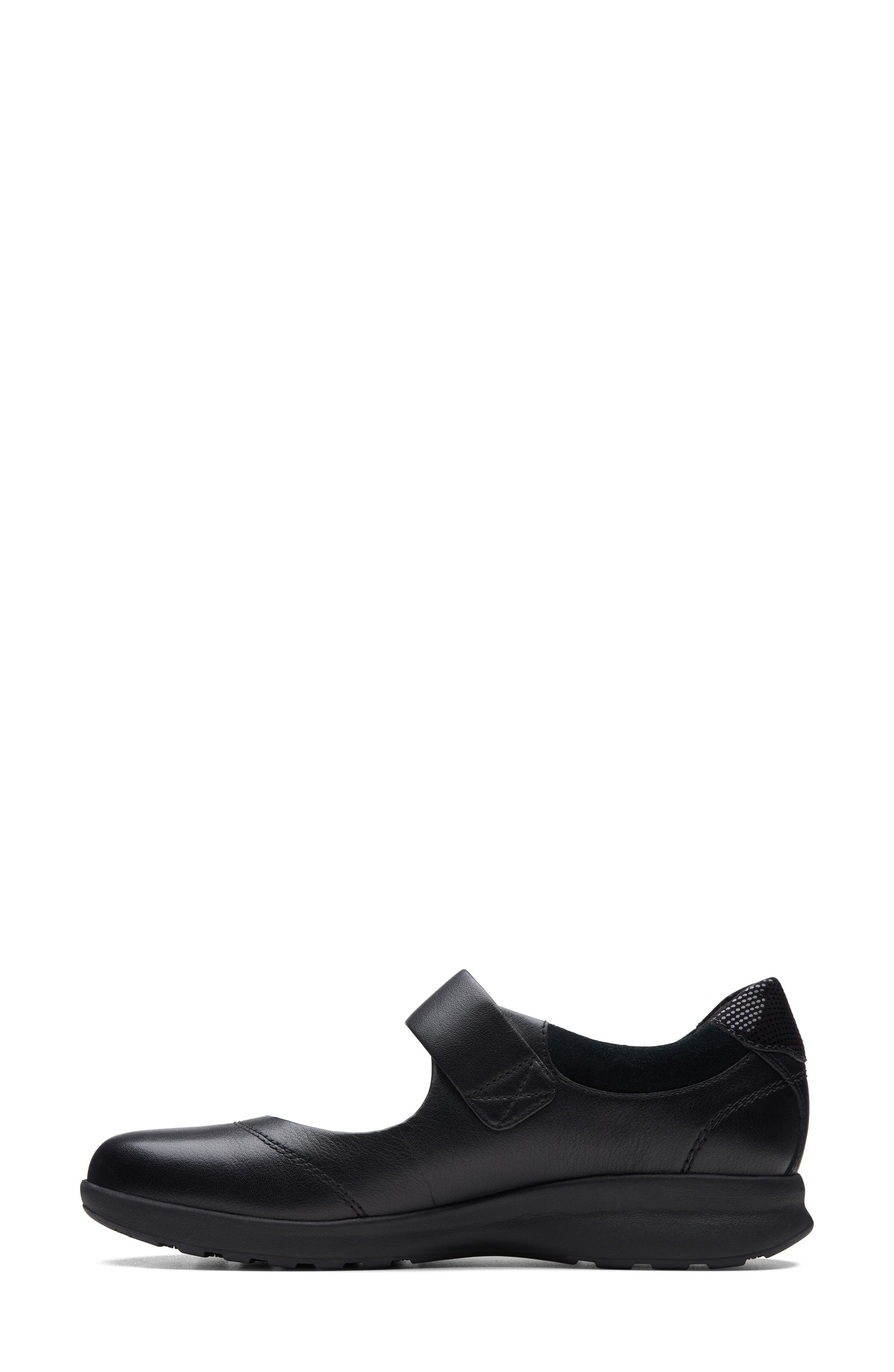 ,                             Un Adorn Mary Jane Flat,                             Alternate thumbnail 5, color,                             BLACK LEATHER/ SUEDE COMBI