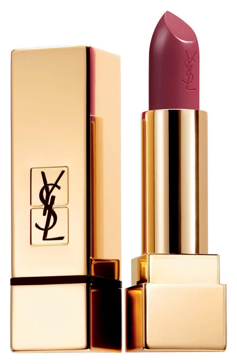YVES SAINT LAURENT Rouge Pur Couture Satin Lipstick, Main, color, 04 ROUGE VERMILLON