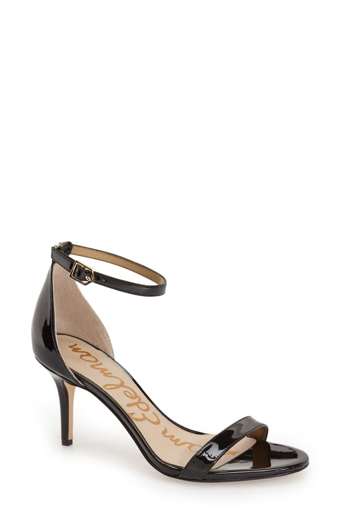 ,                             'Patti' Ankle Strap Sandal,                             Main thumbnail 140, color,                             002