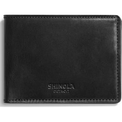 Shinola Harness Slim 2.0 Bifold Leather Wallet - Black
