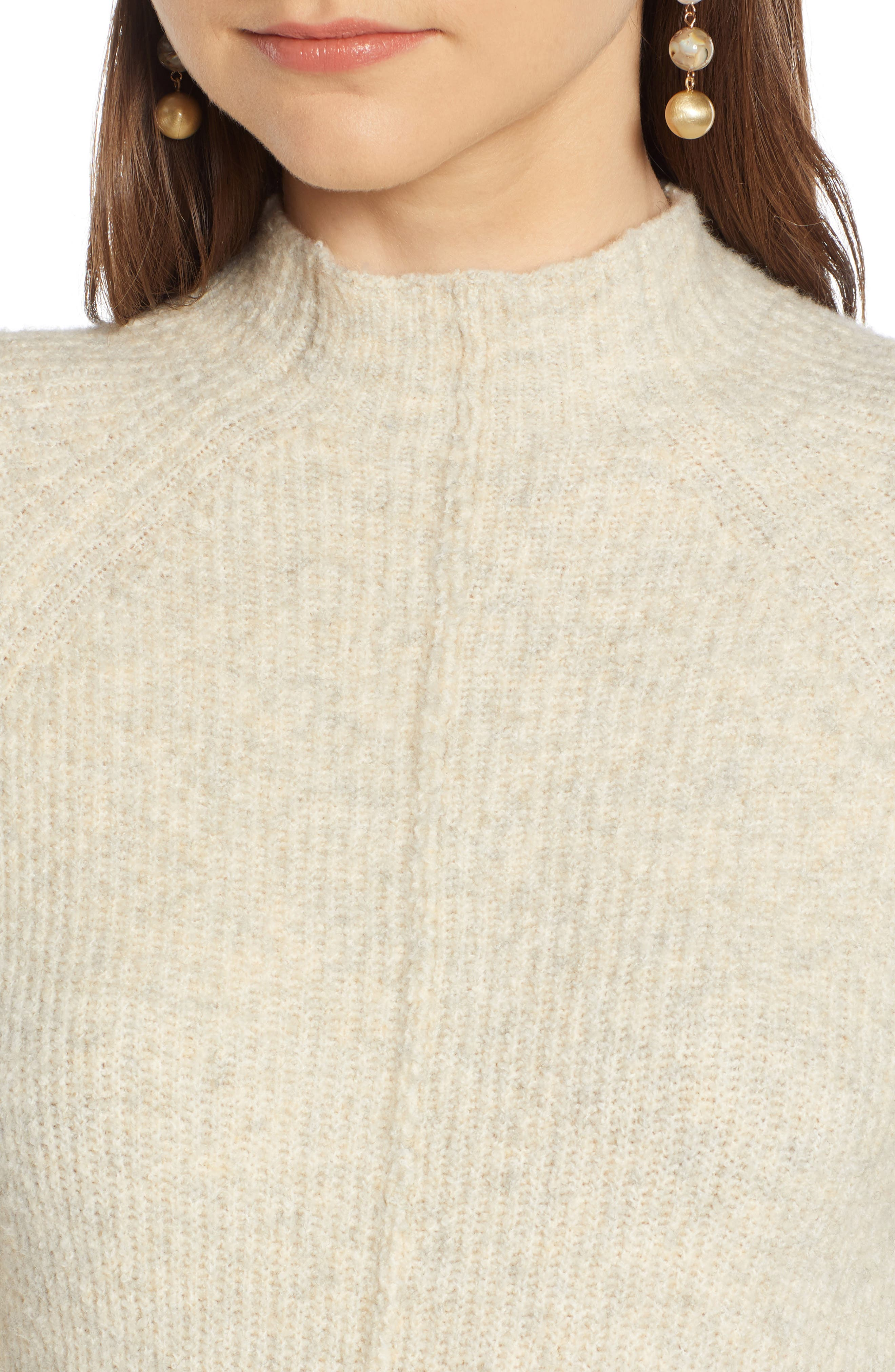 ,                             Mock Neck Maxi Sweater Dress,                             Alternate thumbnail 4, color,                             260