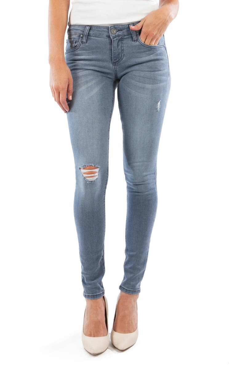 KUT FROM THE KLOTH Mia Ripped Toothpick Skinny Jeans, Main, color, PERPETUAL