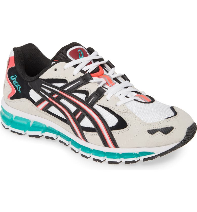 ASICS<SUP>®</SUP> GEL-Kayano<sup>®</sup> 360 5 Water Repellent Sneaker, Main, color, WHITE/ CREAM LEATHER