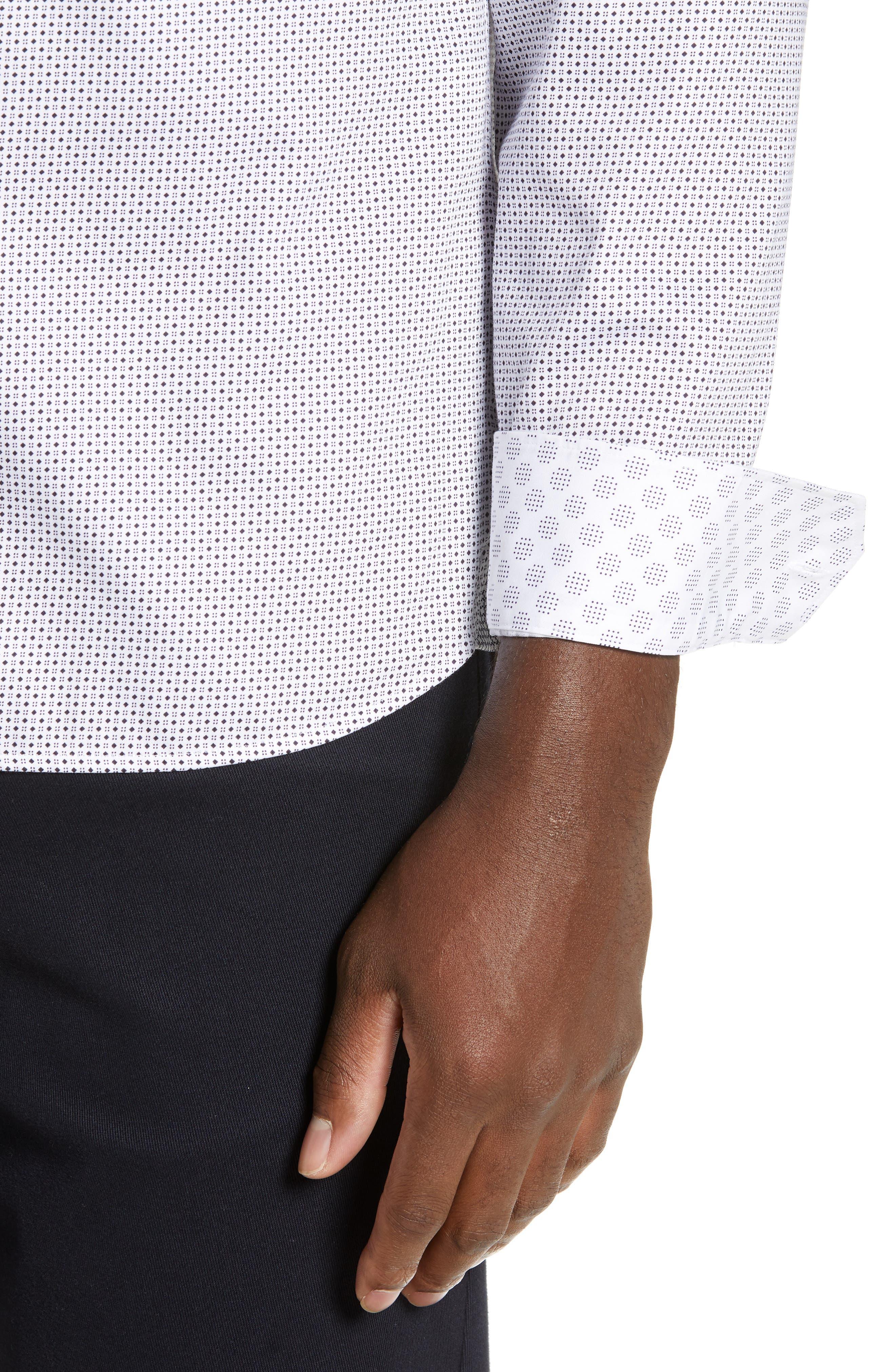 ,                             Subik Slim Fit Geo Print Sport Shirt,                             Alternate thumbnail 2, color,                             110
