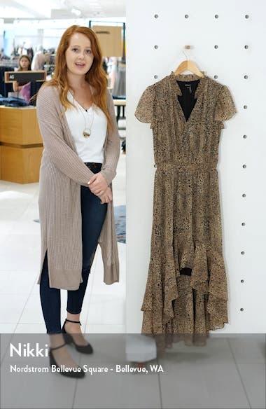 Leopard Split Collar High/Low Maxi Dress, sales video thumbnail