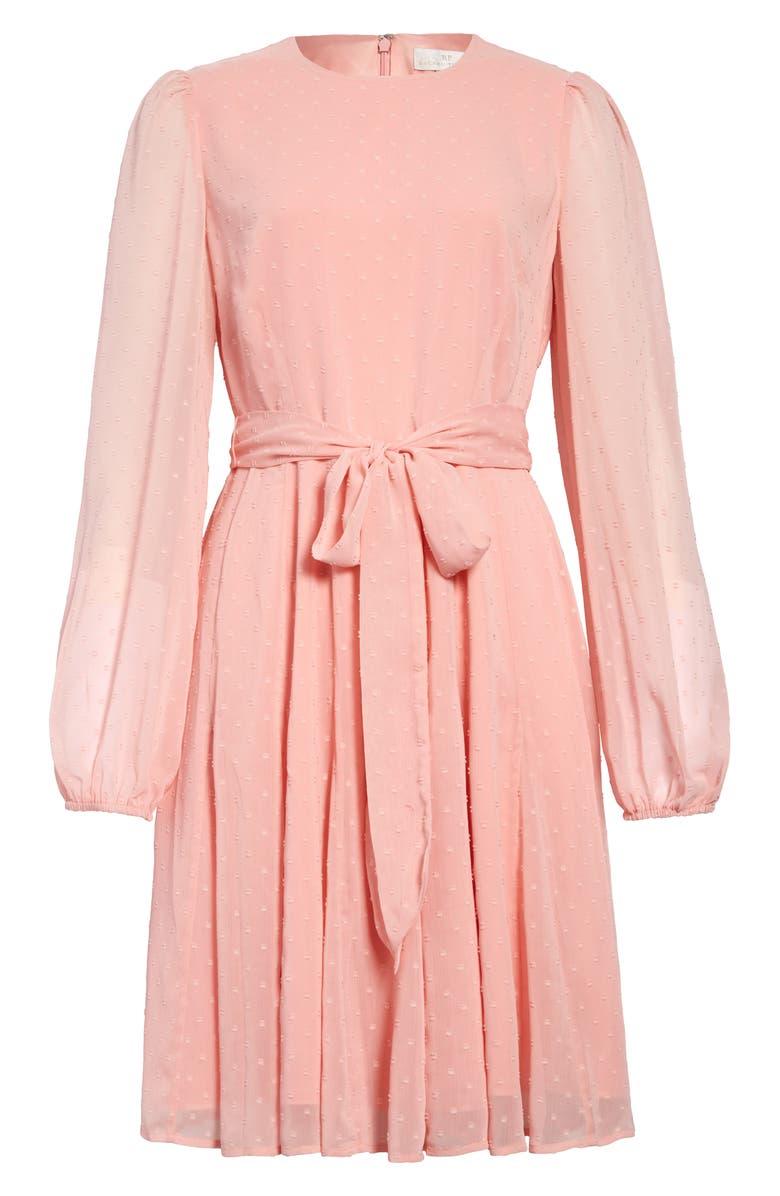 RACHEL PARCELL Twirl Long Sleeve Dress, Main, color, PINK QUARTZ
