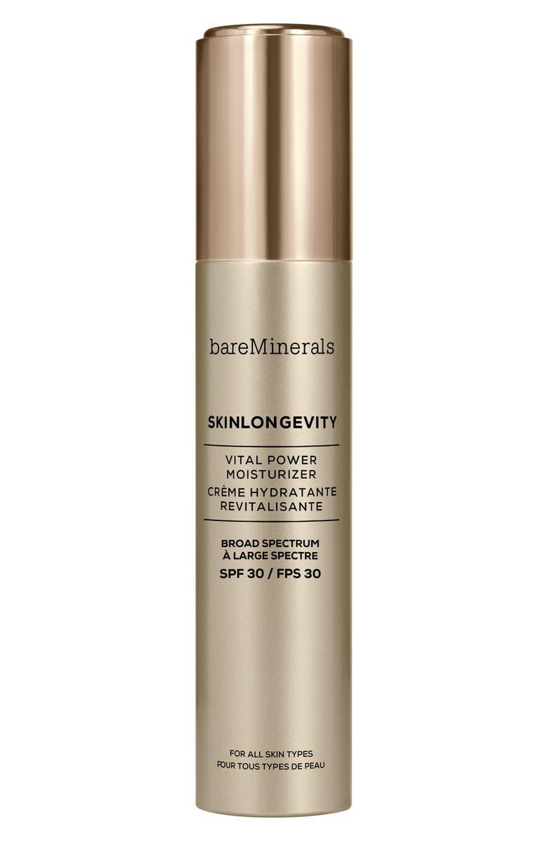 BAREMINERALS<SUP>®</SUP> Skinlongevity<sup>®</sup> Vital Power Moisturizer SPF 30, Main, color, 000