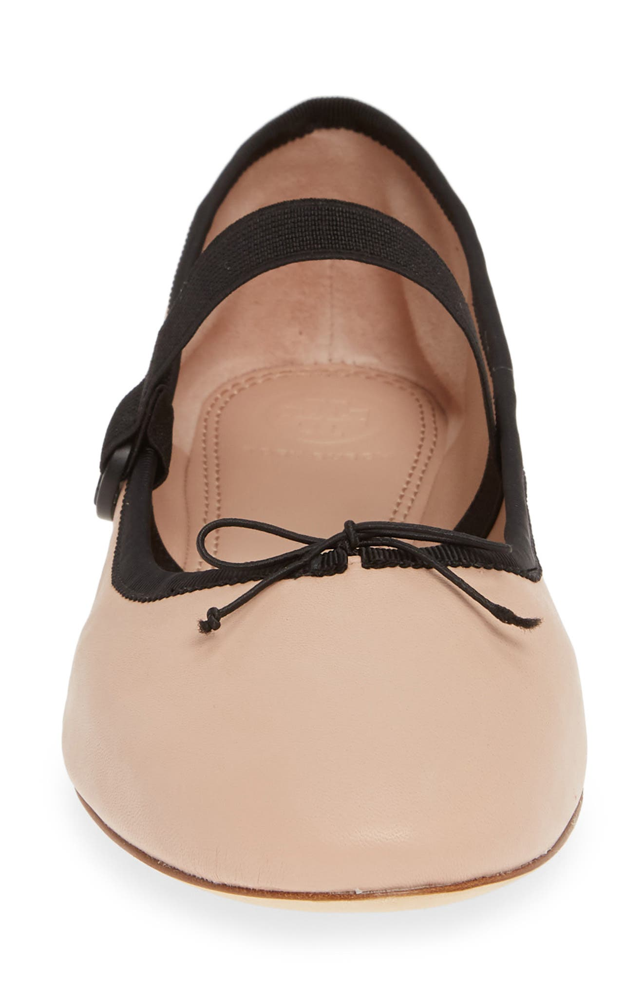 ,                             Mary Jane Ballet Flat,                             Alternate thumbnail 4, color,                             GOAN SAND/ PERFECT BLACK