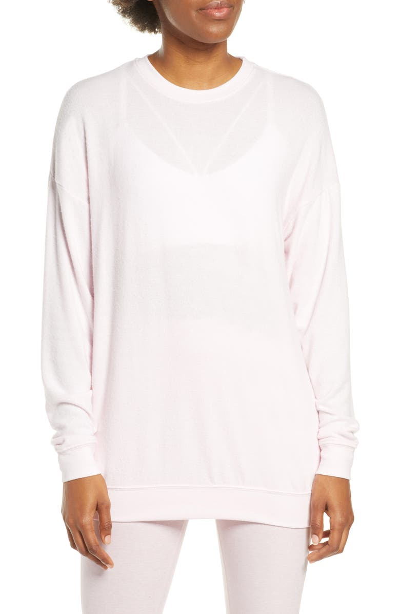 ALO Soho Crewneck Pullover, Main, color, SOFT PINK