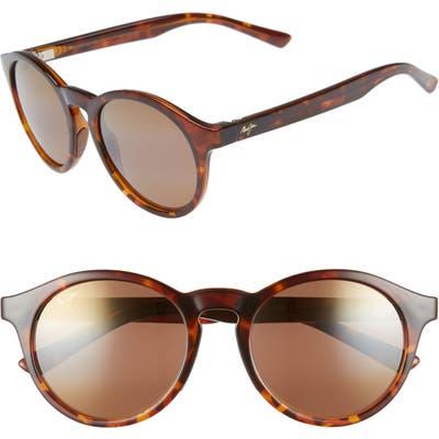Maui Jim Pineapple 50mm Polarizedplus2 Round Sunglasses - Tortoise