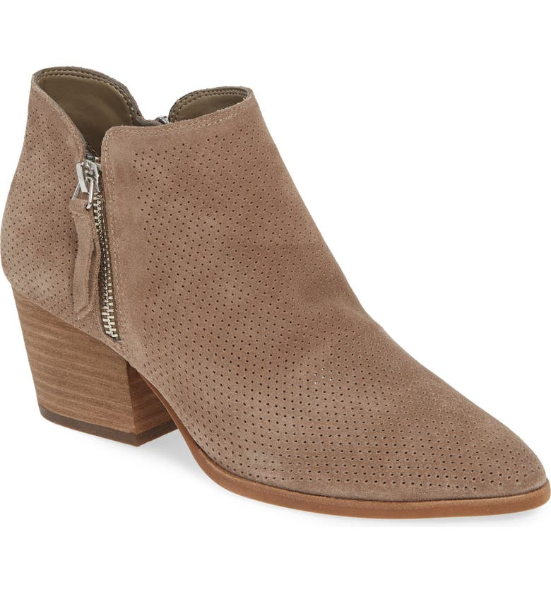 VINCE CAMUTO Nethera Perforated Bootie, Main, color, FOXY SUEDE