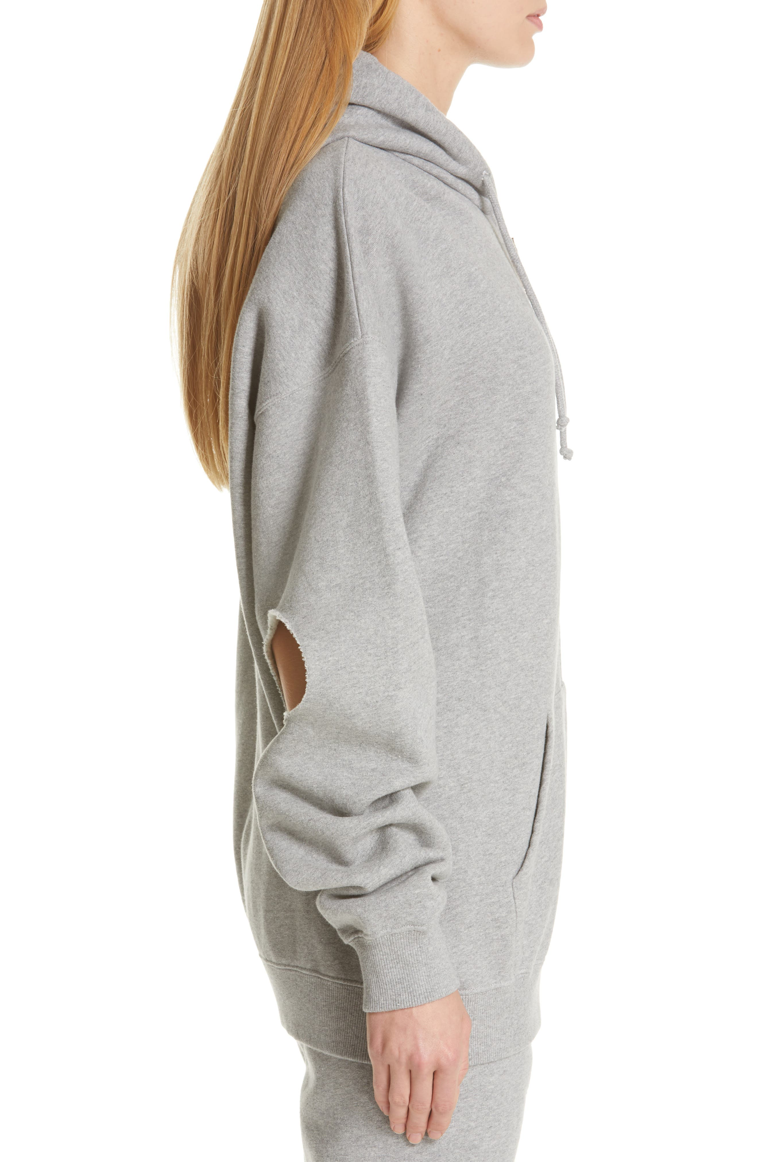 ,                             Elbow Cutout Hoodie,                             Alternate thumbnail 4, color,                             GREY