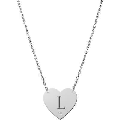 Jane Basch Designs Diamond & Initial Pendant Necklace (Nordstrom Online Exclusive)
