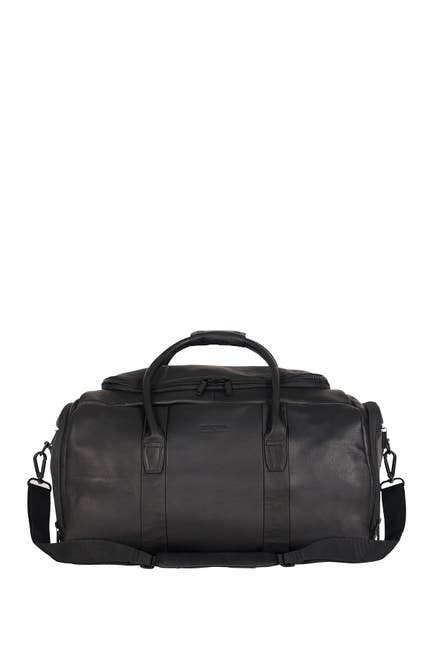 Image of KENNETH COLE Colombian Leather Top Zip Duffel Bag