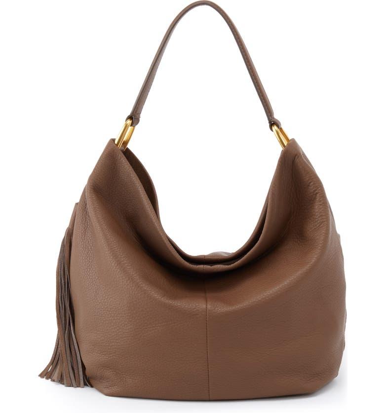 HOBO Meridian Leather Hobo, Main, color, GRAYSTONE