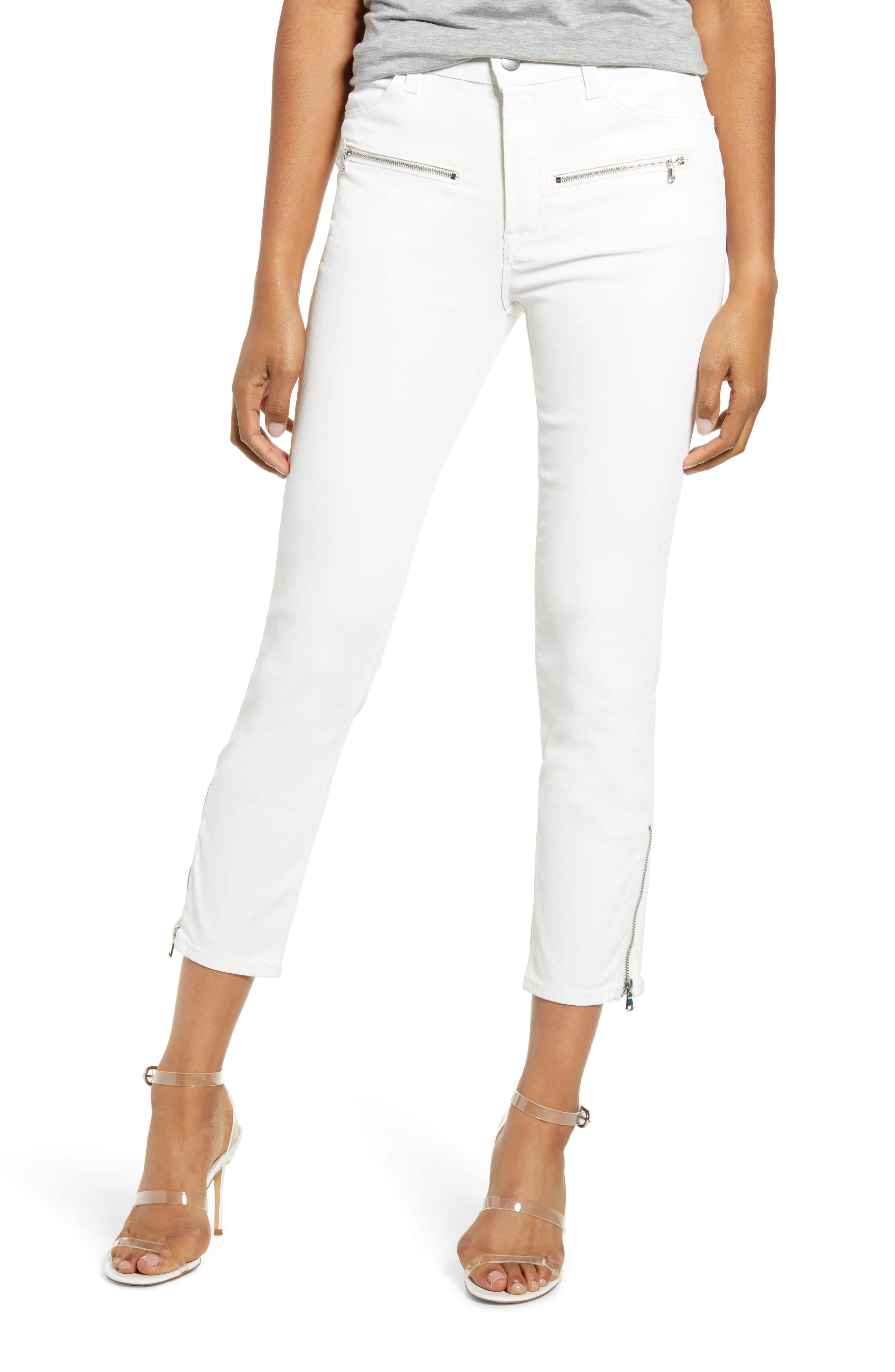 J Brand Jeans Moto Ruby High Waist Crop Cigarette Jeans