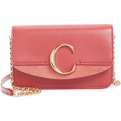 Chloe Mini Leather Shoulder Bag - Pink