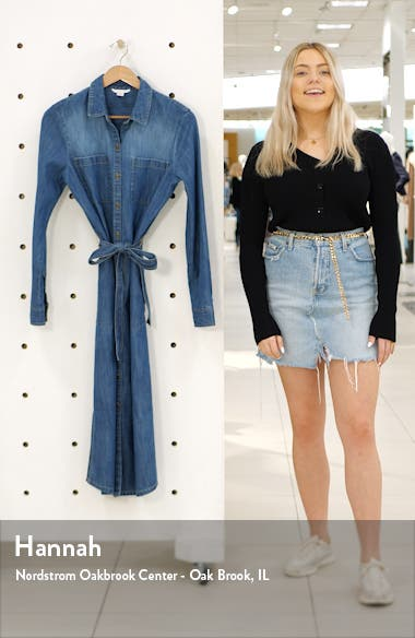 Long Sleeve Denim Shirtdress, sales video thumbnail