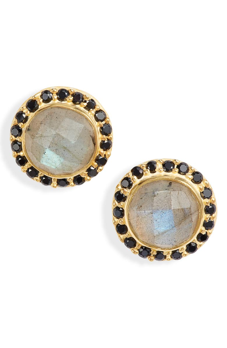 COLLECTIONS BY JOYA Celebration Stone Stud Earrings, Main, color, LABRADORITE