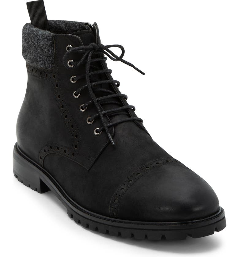 BLONDO Kylen Waterproof Boot, Main, color, BLACK NUBUCK