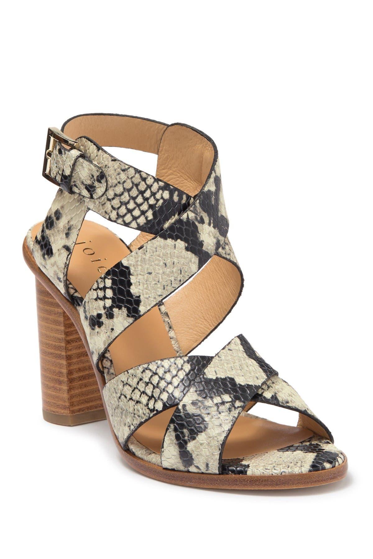 Image of Joie Avery Snake Embossed Leather Block Heel Sandal
