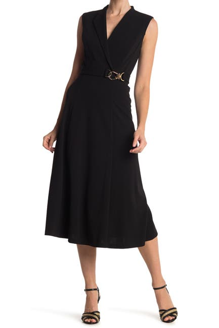 Image of Calvin Klein Sleeveless A-Line Midi Dress