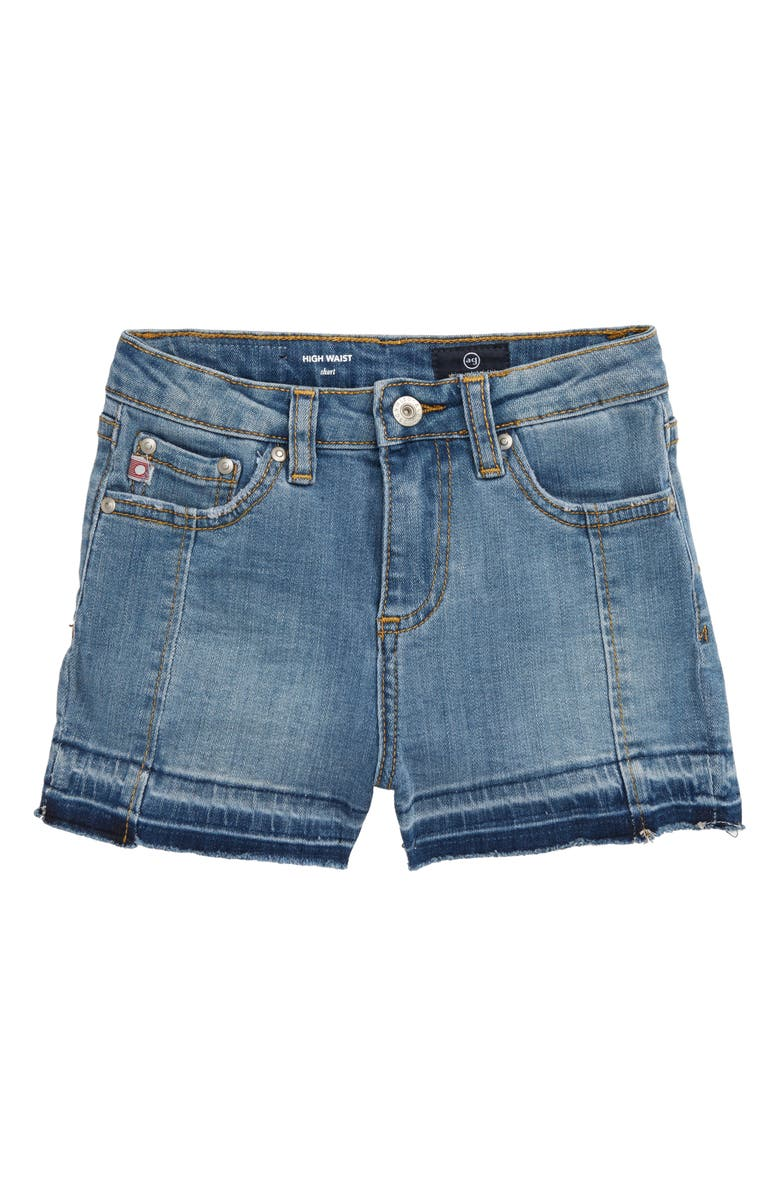 AG Biana Release Hem Shorts, Main, color, COASTAL BLUE WASH