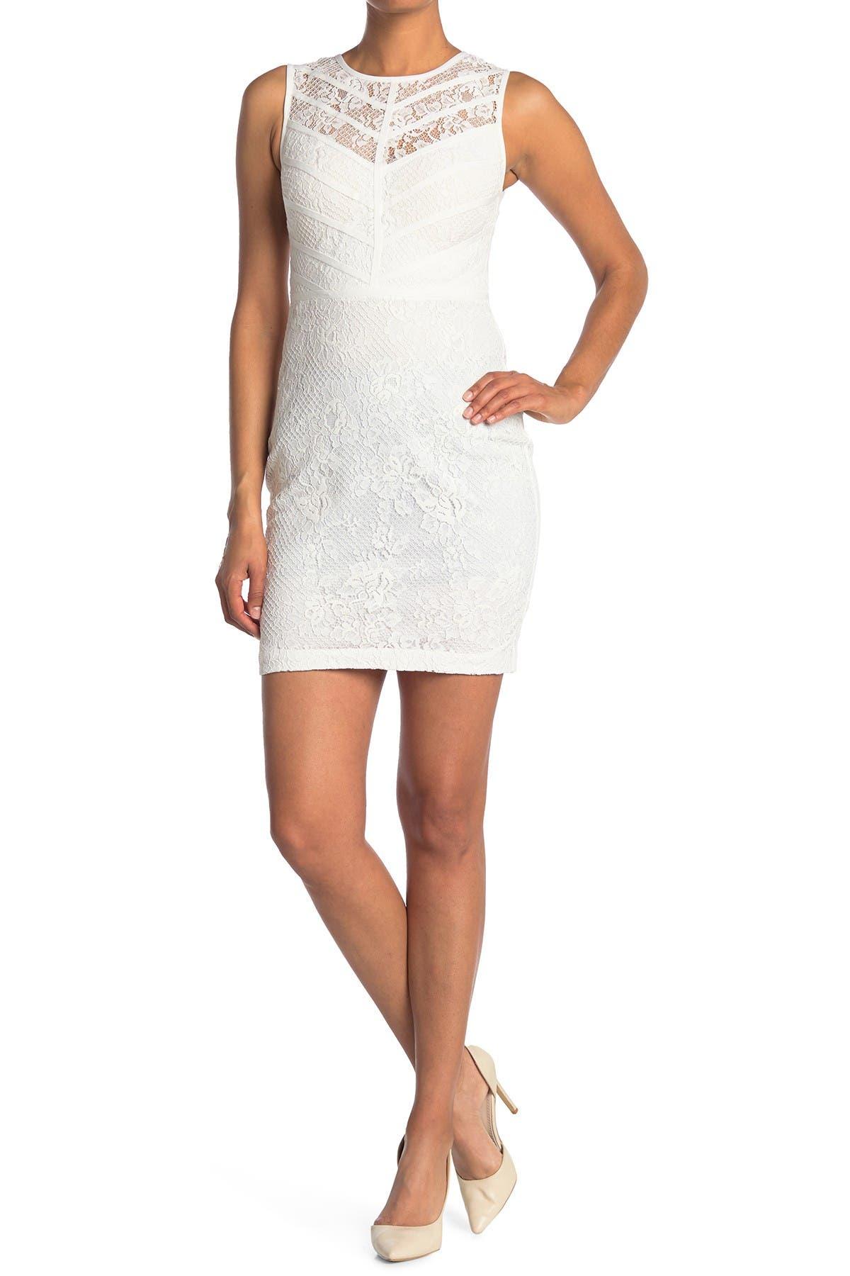 Image of GUESS Lace Sleeveless Sheath Dress