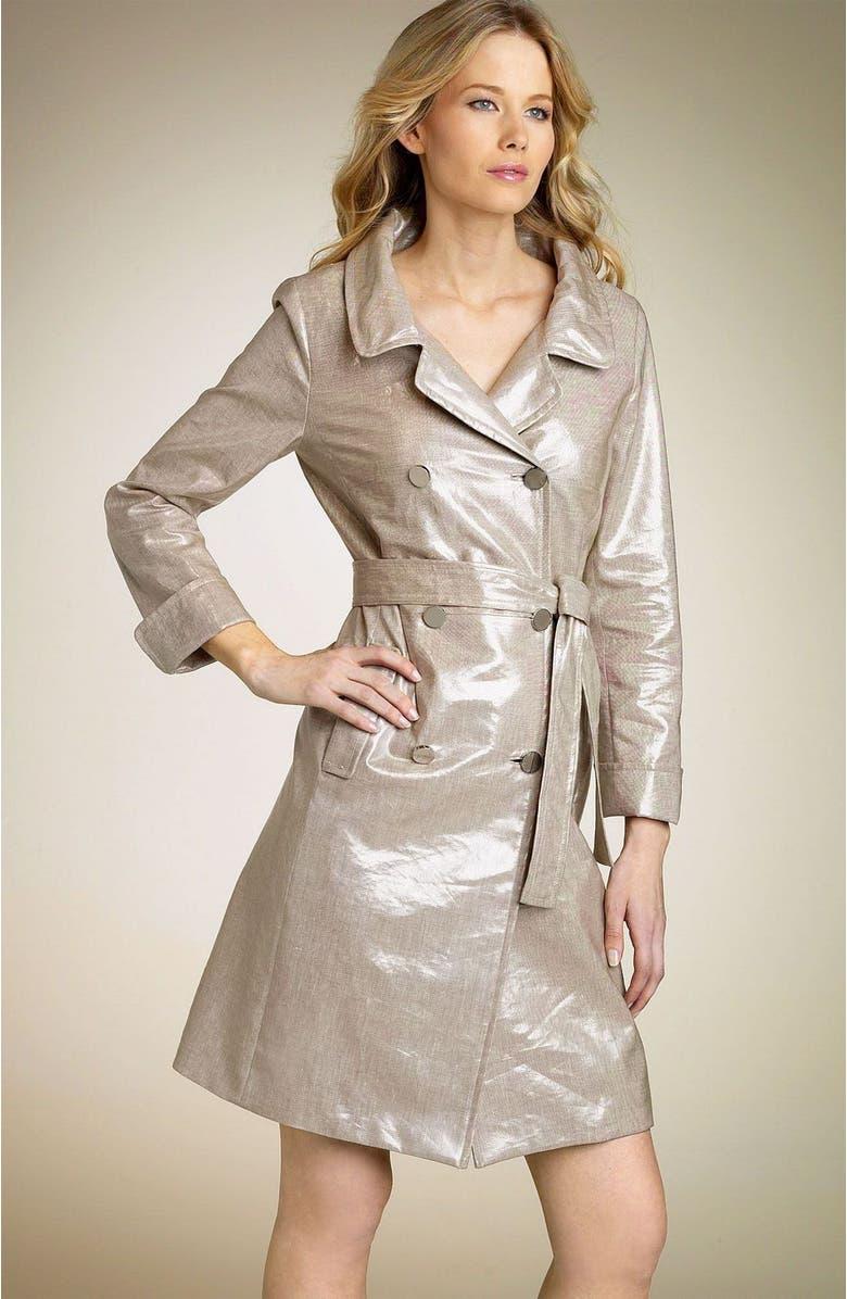 ELIE TAHARI Laminated Trench Coat, Main, color, 152