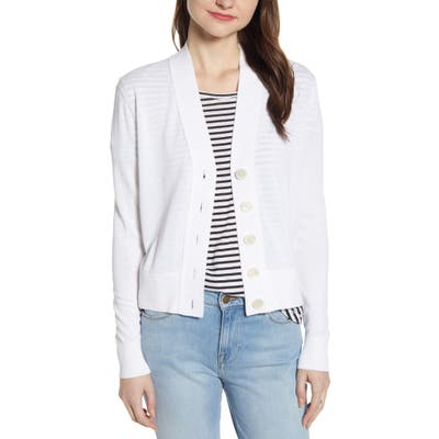 J.crew Lightweight Crop Cardigan, White