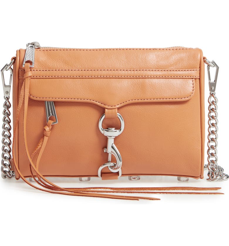 REBECCA MINKOFF Mini MAC Convertible Crossbody Bag, Main, color, HONEY