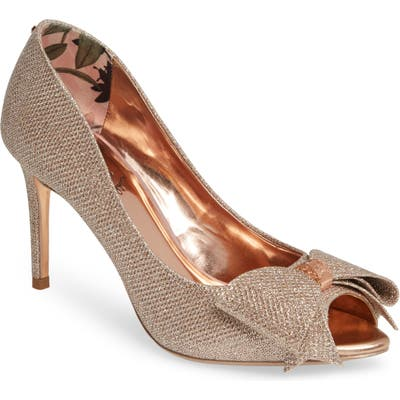 Ted Baker London Nualam Peep Toe Pump - Pink