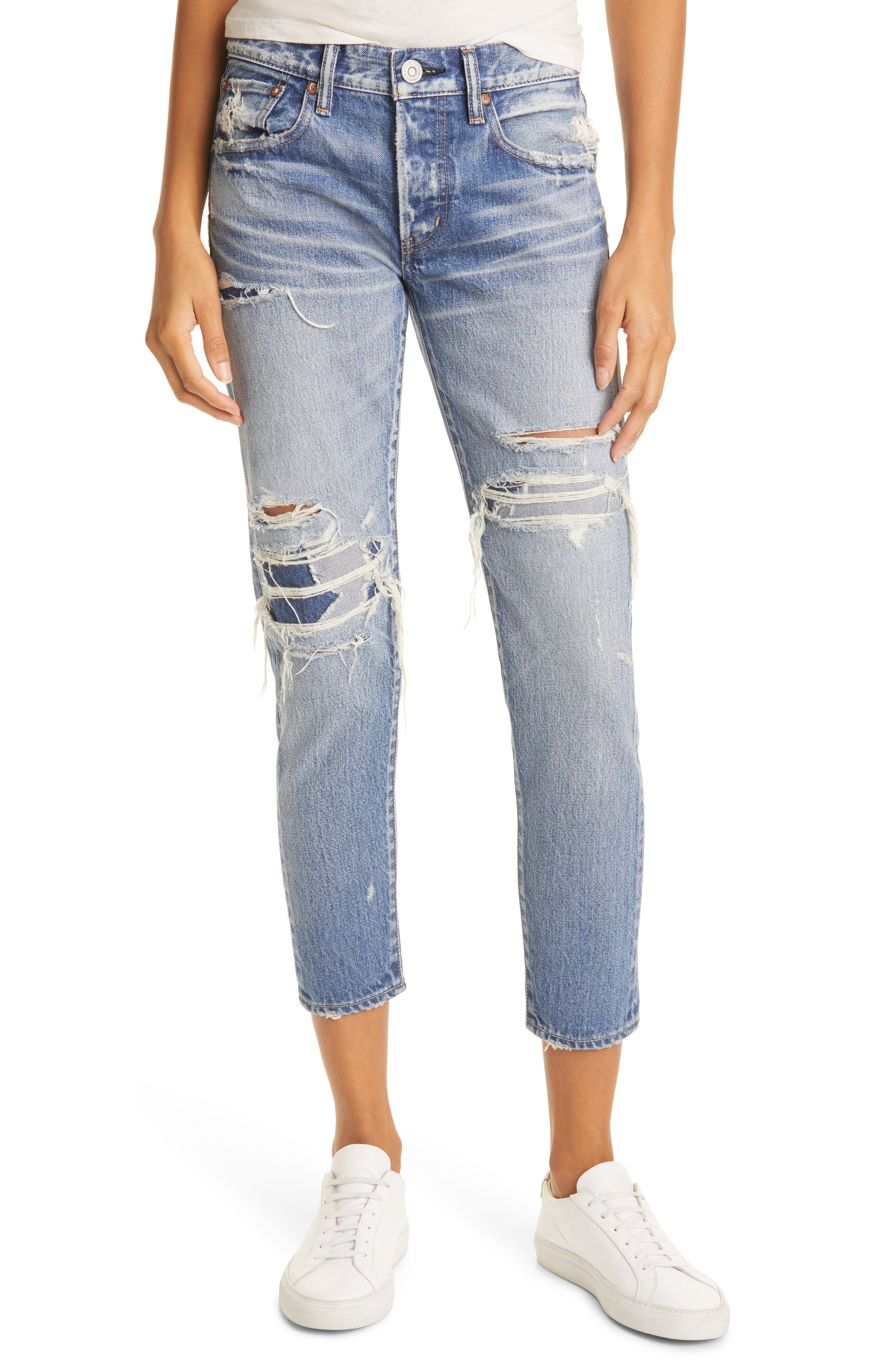 Louisville Distressed Ankle Skinny Jeans