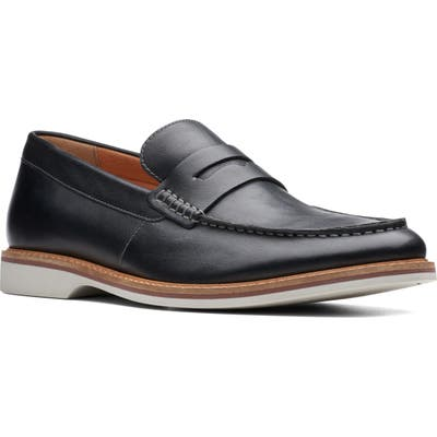 Clarks Atticus Free Penny Loafer, Black