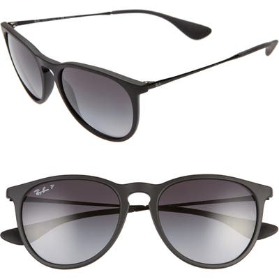 Ray-Ban Erika Classic 5m Sunglasses - Black/ Grey Grad Grey Polar