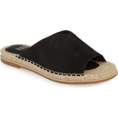 Eileen Fisher Milly Espadrille Slide Sandal- Black
