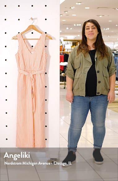 Stripe Crop Jumpsuit, sales video thumbnail
