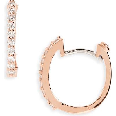 Roberto Coin Small Diamond Hoop Earrings