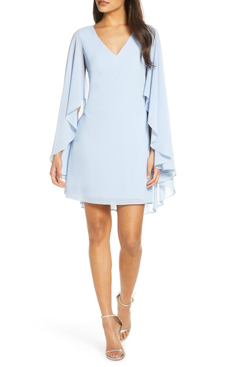 VINCE CAMUTO Cape Back Shift Dress, Main, color, CHAMBRAY BLUE