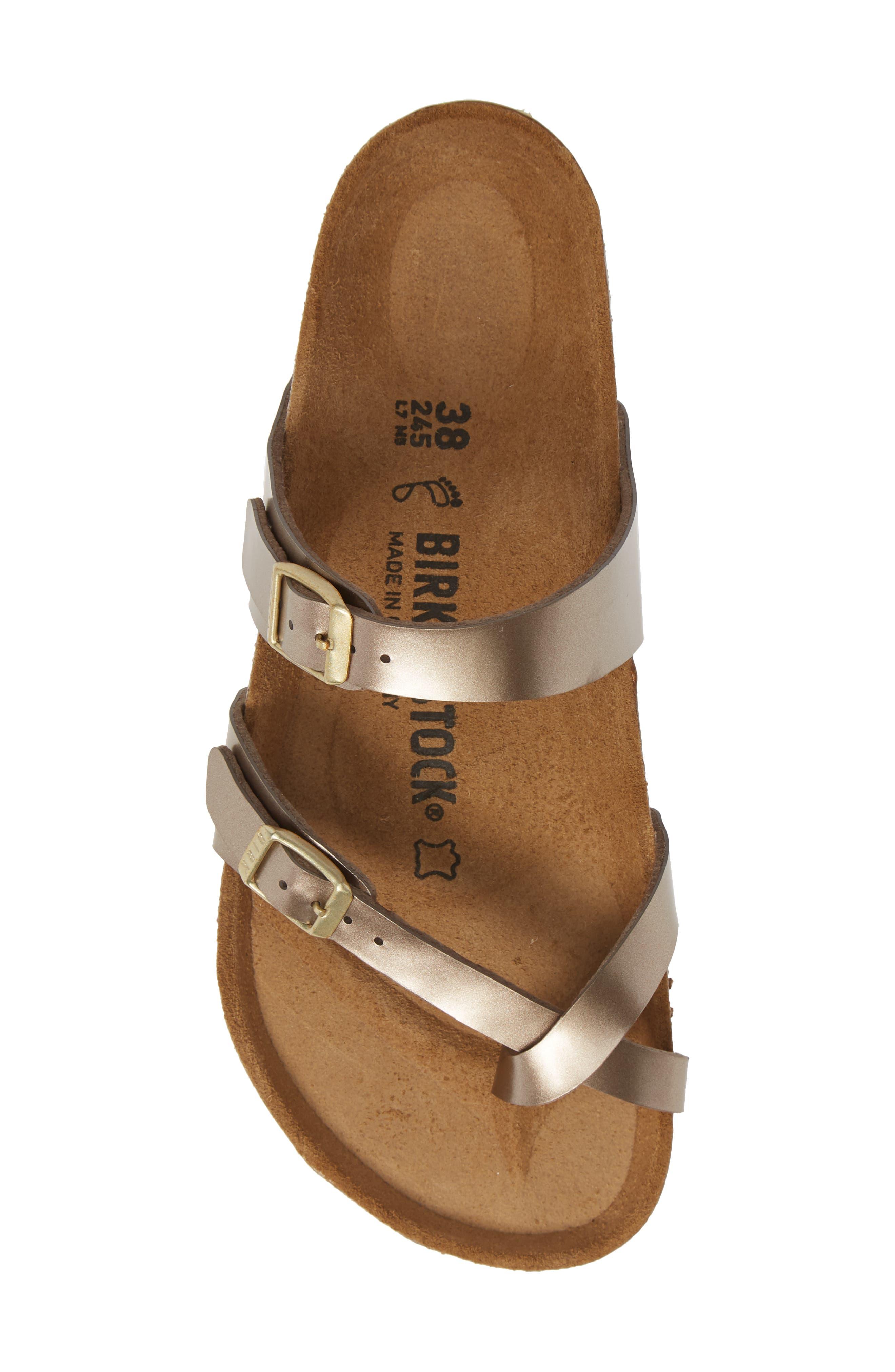,                             Mayari Slide Sandal,                             Alternate thumbnail 5, color,                             ELECTRIC METALLIC TAUPE
