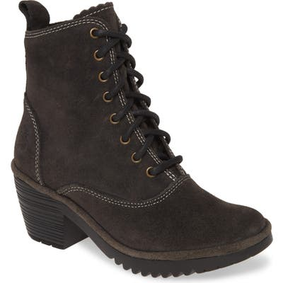 Fly London Wune Lace-Up Bootie-6- Grey